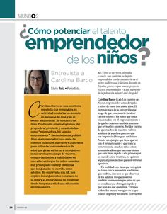 ¿Cómo potenciar el talento emprendedor de los niños? ENTREVISTA A CAROLINA BARCO