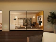 Live Windows by Angelo Senatore is Silver A' Design Award Winner in Building Materials, Construction Components, Structures & Systems Design Category, 2013 - Sliding Window Design, Sliding Windows, Sliding Glass Door, Windows And Doors, Sliding Doors, Glass Doors, Room Interior, Modern Interior, Minimalist Window