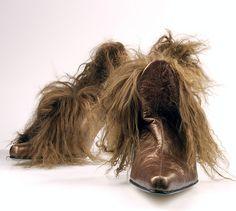 les chaussures poilues