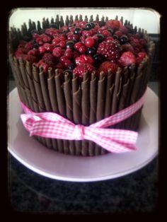 Chocolate cake, chocolate cream.