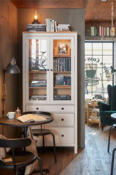 Cafe Med, Visa, Hemnes, Medan, Interior Design Inspiration, China Cabinet, Liquor Cabinet, Sweet Home, Decor Ideas
