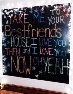 Chalkboard Wall Bedroom, Chalk Wall, Chalkboard Art, Bedroom Wall, Bedroom Decor, Chalk Board, Bedroom Ideas, Chalkboard Designs, Bedroom Inspo