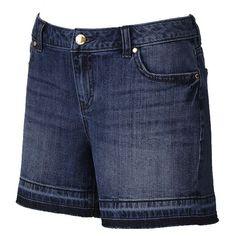 Women's Jennifer Lopez Release-Hem Boyfriend Jean Shorts, Size: