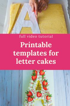 Cake Decorating Videos, Cake Decorating Techniques, How To Make Letters, How To Make Cake, Chocolate Letters, Alphabet Cake, Cake Lettering, Tasty Pastry, Cake Templates