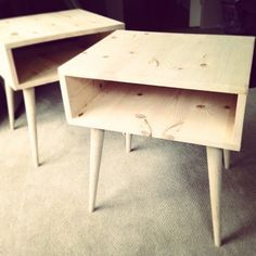 Simple Modern Nightstand DIY - can adapt to personal style by simply changing the legs