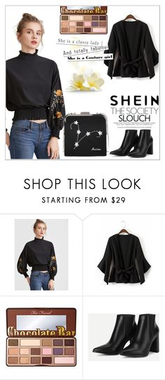 """""""SheIn 8 / XX"""" by selmamehic ❤ liked on Polyvore featuring WithChic and Too Faced Cosmetics"""