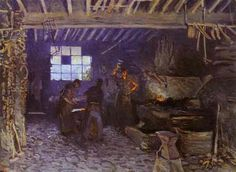 Forge at Marly le Roi, 1875 - Alfred Sisley - WikiArt.org