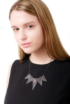 BLACK STAR WITH AMETHYST, CHOCKER NECKLACE #ozonboutique Chocker Necklace, Black Star, Amethyst, Handmade Jewelry, Brooch, Female, Stars, Collection, Fashion