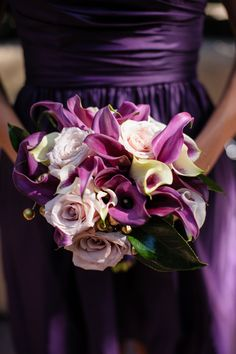 Rebecca Reategui Weddings and Special Events // Vero Suh Photography // Ornamento Flowers // bouquet // purple // wedding // bridesmaid