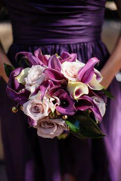 Rebecca Reategui Weddings and Special Events // Vero Suh Photography // Ornamento Flowers // bouquet // purple // wedding // bridesmaid