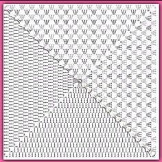 granny square her crochet Crochet Squares, Granny Square Crochet Pattern, Crochet Blocks, Crochet Diagram, Crochet Chart, Crochet Granny, Free Crochet, Crochet Purse Patterns, Crochet Pillow Pattern