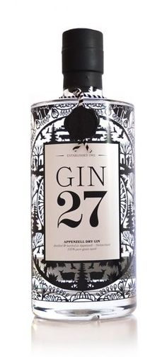 Wonder what 27 stands for...27 botanicals? must be 27 to drink it? Gin 27 Appenzeller Dry Gin