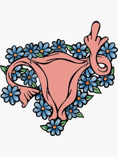 """""""Middle Finger Uterus Pro-choice Feminist"""" Stickers by BubbSnugg LC Vintage T-shirts, Life Quotes Love, Feminist Art, Aesthetic Stickers, Pro Choice, Canvas Prints, Art Prints, Cute Stickers, Sticker Design"""