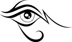 Eye free vector clip art - Free vector image in AI and EPS format. Eye Outline, Eyes Clipart, Tribal Drawings, Tribal Tattoos, Eye Stencil, Graphic Eyes, Eye Logo, Female Eyes, Tattoo Graphic