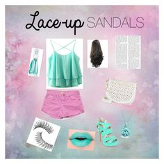 """""""lace up sandles"""" by daisydurnell on Polyvore featuring beauty, Qupid, Sanctuary, Under One Sky, Anna Sui, Trish McEvoy, Bling Jewelry, contestentry, laceupsandals and PVStyleInsiderContest"""