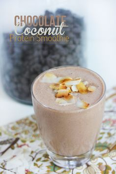 Chocolate #Coconut #Smoothie glutenfree dairyfree paleo #SmoothieSwag