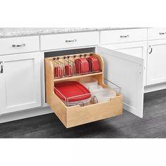 Container Organization, Kitchen Cabinet Organization, New Kitchen Cabinets, Base Cabinets, Storage Cabinets, Kitchen Storage, Cabinet Organizers, Cabinet Ideas, Diy Kitchen