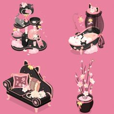 Pastel Bedroom, Bedroom Games, Cute Games, Kawaii, Game Item, Game Assets, Art Furniture, Character Outfits, Game Design