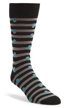 Lorenzo Uomo Stripe & Dot Socks