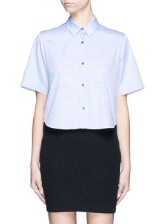 T BY ALEXANDER WANG Cotton Poplin Shirt. #tbyalexanderwang #cloth #shirt