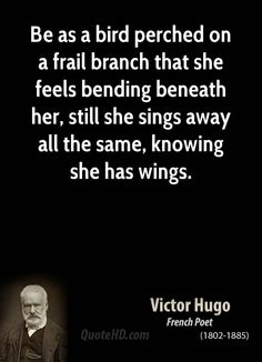 Victor Hugo ~ My mom had, read & treasured many books in her lifetime and passed that love down to me and me to my daughter, and so on.  One of her favorite writers was Victor Hugo.