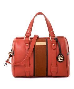 Poppy & Brown Hollecker Leather Satchel by Spartina 449 #zulily #zulilyfinds
