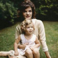 Jacqueline and Caroline Kennedy