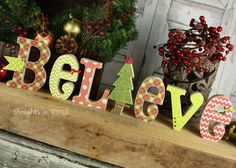 Wood Believe Letters. Christmas Craft