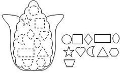 Indian Corn Shape cut and paste activity from Making Learning Fun.