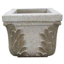 Granite Outdoor Square Planter Flower Pots