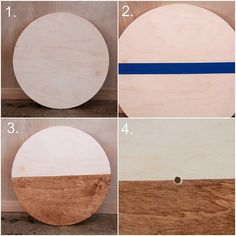 how to make stained plywood clock via Kristina J blog