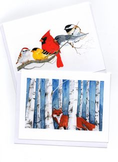 More designs of mu note cards, watercolor by Kay