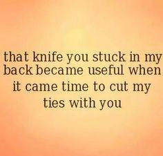 She dug that knife real deep!!