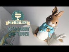 Flower and modelling paste Peter rabbit cake topper tutorial How to make a Peter rabbit cake fondant - YouTube