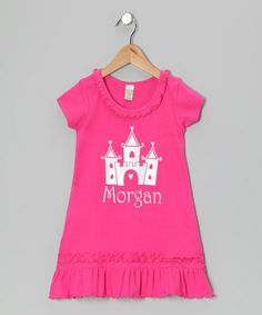 Take a look at this Hot Pink Castle Personalized Dress - Infant, Toddler & Girls by Bourbon Street Boutique on #zulily today!