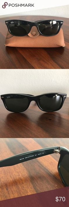 Ray-Ban New Wayfarer Sunglasses 😎 Ray-Ban New Wayfarer Sunglasses 😎 Black. Made in Italy. Comes with case. Updated silhouette on an old classic! These never go out of style! Ray-Ban Accessories Sunglasses