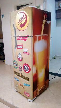Envelopamento geladeira com marcas de cerveja em SP