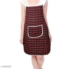 Aprons  Classy Stylish Cotton Apron Material:  Cotton Size: 50 in Length : Up To 27 in  Colour : Red Description:It Has 1 Piece Of Apron Pattern: Checkered Sizes Available: Free Size *Proof of Safe Delivery! Click to know on Safety Standards of Delivery Partners- https://ltl.sh/y_nZrAV3  Catalog Rating: ★4 (7218)  Catalog Name: Free Mask Classy Stylish Cotton Apron Vol 4 CatalogID_489261 C129-SC1633 Code: 631-3514816-