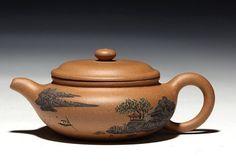 Fang Gu teapot YiXing Pottery Handmade zisha clay by Chinateaware