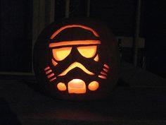 Storm trooper jack-o-lantern by Jeff Kopp
