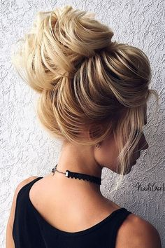 big bun | top knot | with hair extensions | long hairstyle | simple | easy | blonde