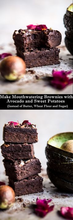 How to Make Mouthwatering Brownies with Avocado and Sweet Potatoes Instead of Butter, Wheat Flour and Sugar