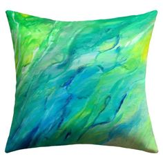 """DENY Designs Rosie Brown """"The Sea"""" Outdoor Throw Pillow, 16 by 16-Inch DENY Designs,http://www.amazon.com/dp/B00JQYLO4M/ref=cm_sw_r_pi_dp_jMXxtb0192NFVDQ6  #pillow #homedecor"""