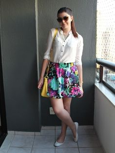 Look do dia: Saia colorida