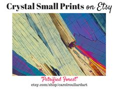 """Petrified Forest"" Crystal Small Art Print by Carol Roullard is available on Etsy, starting at $10."