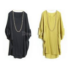 New Women Fashion Batwing Short Sleeve Loose Blouse T-Shirt Tops