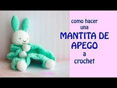 Crochet Security Blanket, Crochet Lovey, Knit Crochet, Dou Dou, Kit Bebe, Baby Lovey, Crochet Animals, Baby Toys, Stitch Patterns