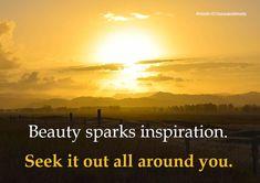 Beauty sparks inspiration
