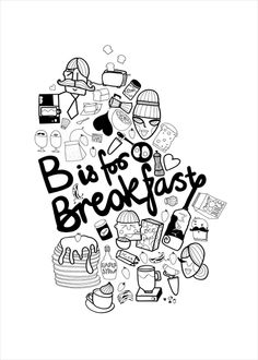 Poster: B is for Breakfast