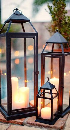 candle lanterns.....great Mother's Day present. I love them.